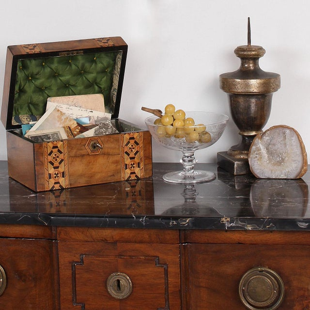 19th C. English Box With Exquisite Marquetry For Sale - Image 10 of 11