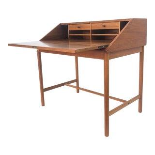 Scandinavian Modern Drop Front Desk by Torbjorn Afdal For Sale