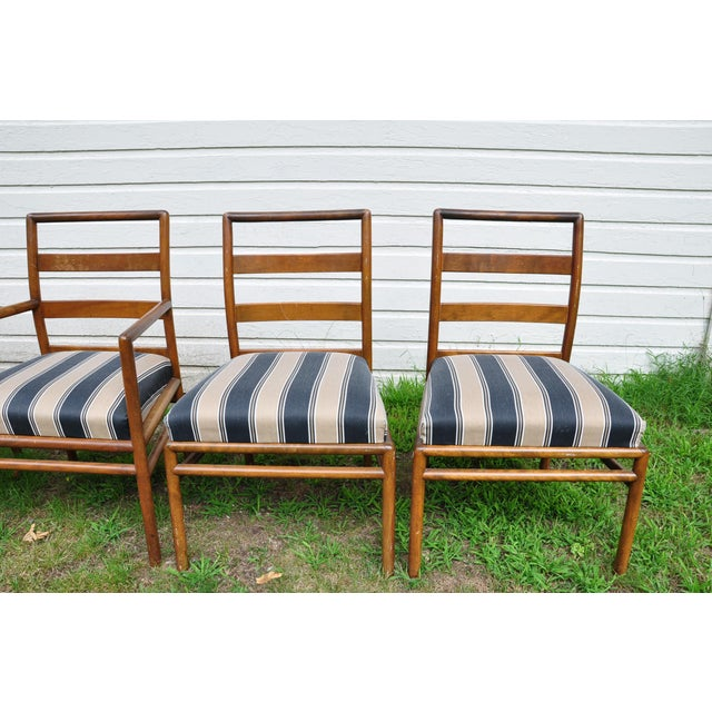 Mid-Century Modern 1950s Mid-Century Modern t.h. Robsjohn-Gibbings for Widdicomb Dining Chairs - Set of 6 For Sale - Image 3 of 13
