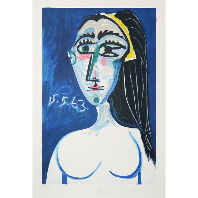 Pablo Picasso 'Buste De Femme Nue Face' Lithograph - Image 1 of 2