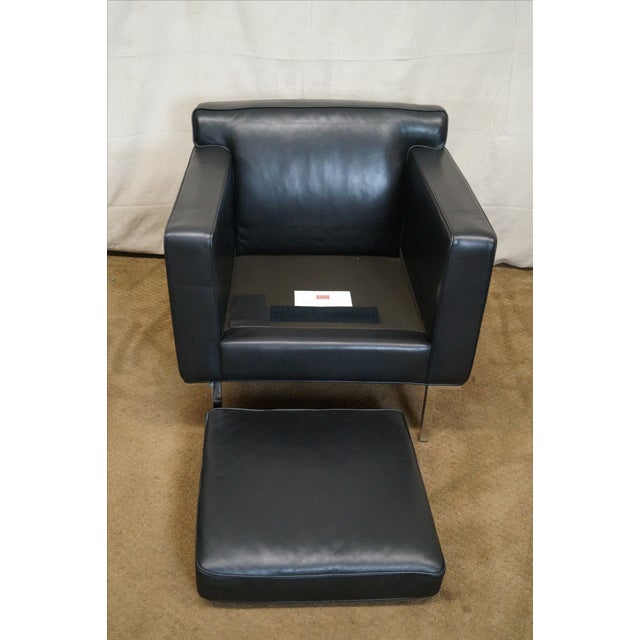Ted Boerner American Leather & Chrome Club Chair - Image 6 of 10