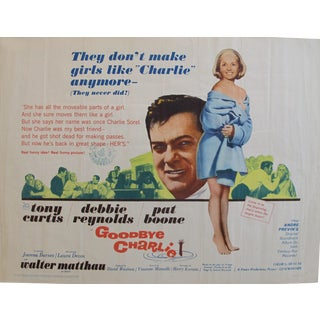 """1964 Original American Movie Poster - """"Goodbye Charlie"""" With Tony Curtis & Debbie Reynolds For Sale"""