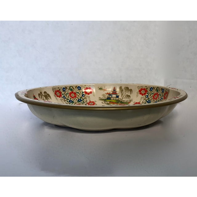 Gorgeous Asian painted bowl. Use for pretzels or popcorn. Fruit also looks great in these bowls.