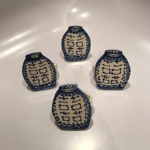 Ceramic Ginger Jar Napkin Rings - Set of 4 - Image 2 of 5