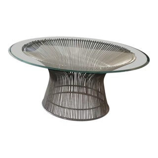 Platner for Knoll 36 Inch Coffee Table For Sale
