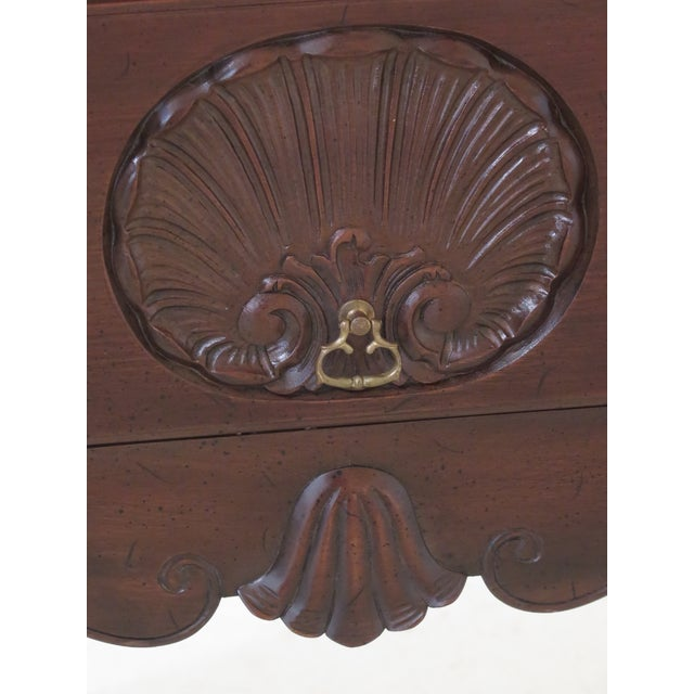 Chippendale 1980s Chippendale Kittinger Biggs Ball & Claw Mahogany Lowboy For Sale - Image 3 of 12