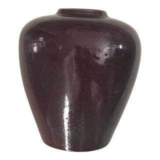 Vintage Amethyst 1980's Studio Vase