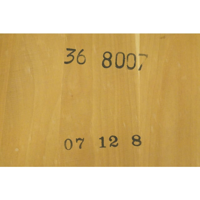 20th Century British Colonial Kling Solid Cherry Hexagonal Storage End Table For Sale - Image 12 of 13