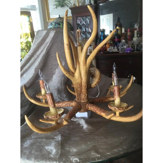 Deer Antler Chandelier For Sale In Atlanta - Image 6 of 10