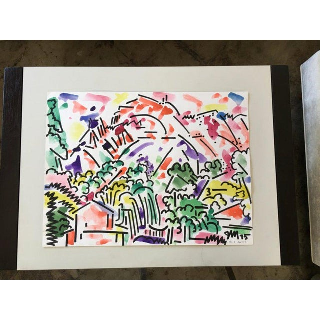 Framed landscape watercolor by James McCray (1912-1993), signed by the artist and dated 1976. McCray taught at the...