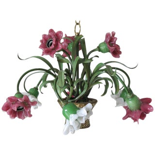 Flower Chandelier by Banci Firenze For Sale