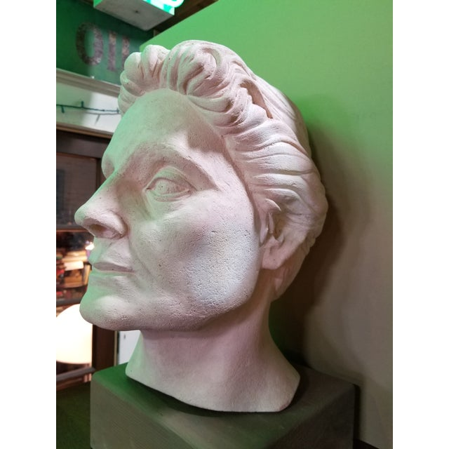 Realism Life-Size Terracotta Bust by Herman Roderick Volz For Sale - Image 3 of 11