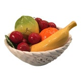 Image of Vintage Italian Bassano Woven Fruit Bowl For Sale