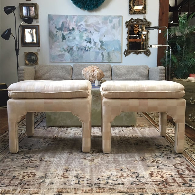 Tufted Moroccan Style Ottoman Benches - Pair For Sale - Image 4 of 7
