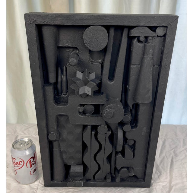 Stunning Assemblage Sculpture in the style of Louise Nevelson. Perfect Mid-century modern accessory piece.
