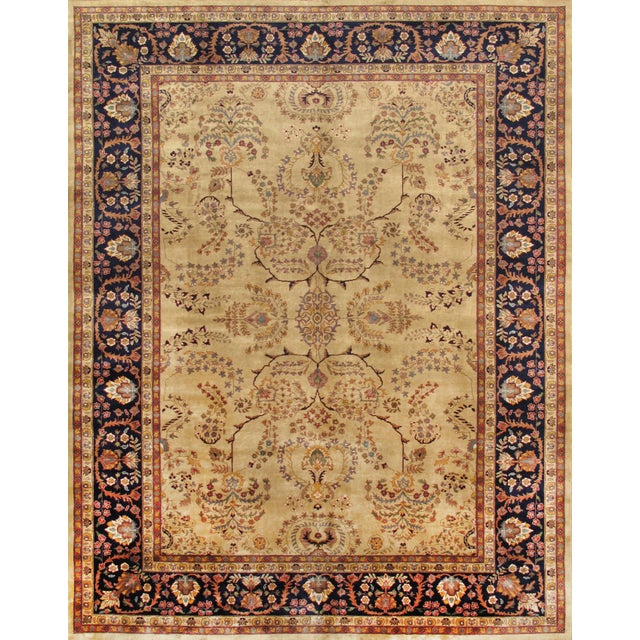Pasargad Peacock Throne Sarouk Area Rug - 6' X 9' - Image 1 of 3