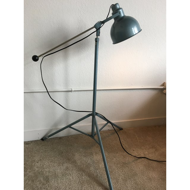 Vintage Industrial Mid Century Bretford Tripod Floor Lamp Adjustable Stage Light Fixture For Sale - Image 5 of 11