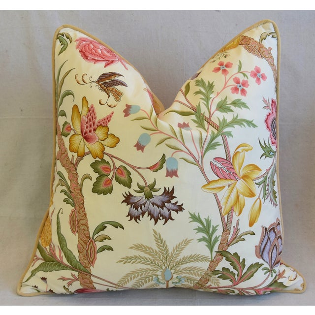 "Designer Cowtan Tout Arabella Floral Feather/Down Pillows 24"" Square - Pair For Sale In Los Angeles - Image 6 of 13"