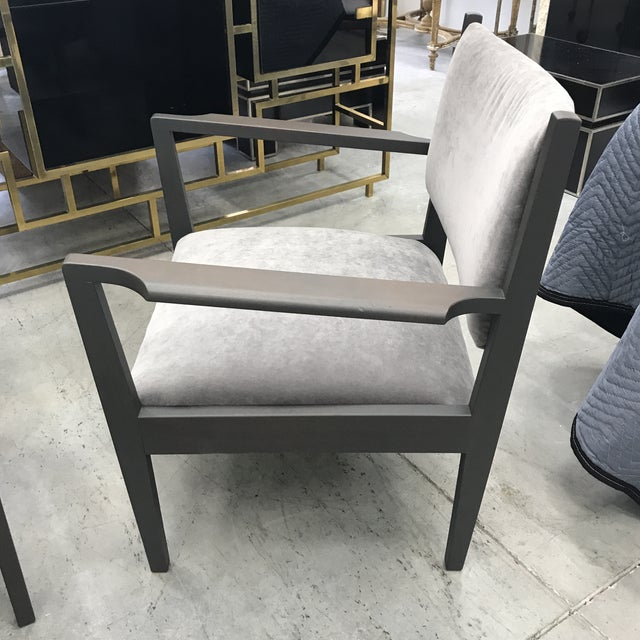 1950s Jens Risom Gray Velvet Armchairs - a Pair For Sale - Image 12 of 13
