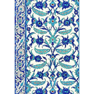 Schumacher Topkapi Wallpaper in Peacock For Sale