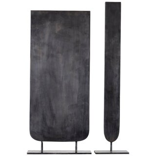 Pair of Steel Sculpted Vase, Signed by Lukas Friedrich For Sale