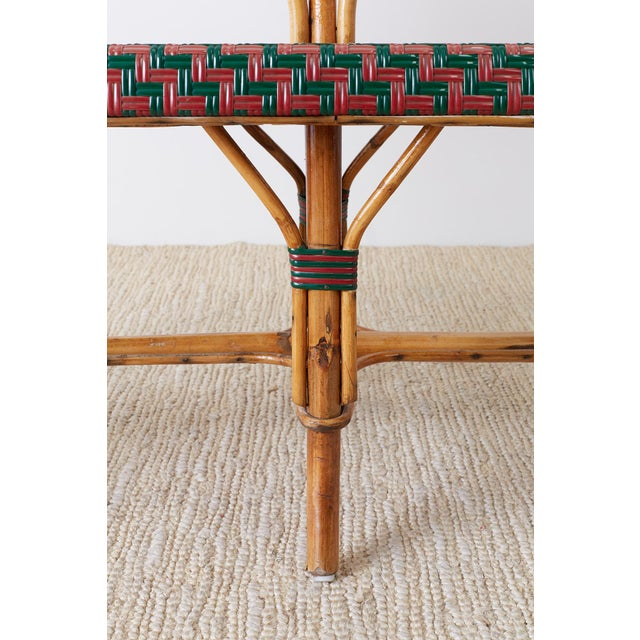 French Maison Gatti Rattan Bamboo Banquette Settee For Sale - Image 10 of 13