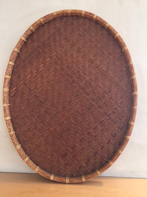 Oval Rattan U0026 Bamboo Basket Tray   Image 8 ...