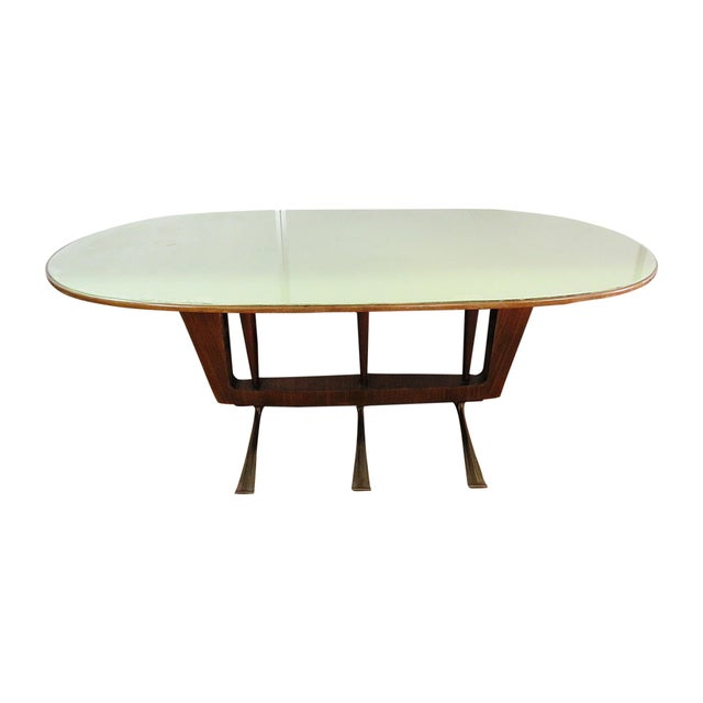 Italian Modern Walnut Dining Table For Sale - Image 11 of 11