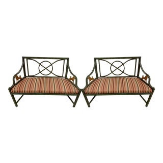 Pair of Neo-Classical Cast Metal Benches /Settees For Sale