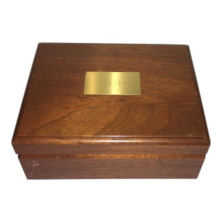 1960s Traditional Tiffany & Co Wooden Box For Sale