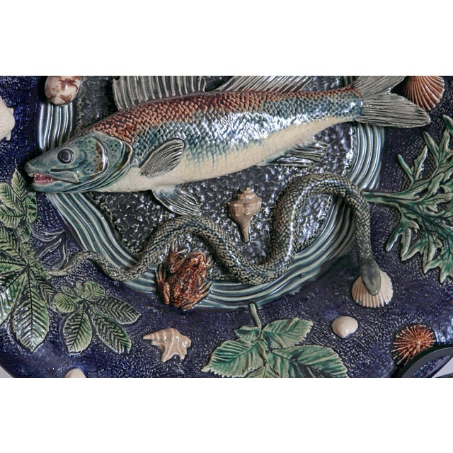 Large Palissy Charger by Victor Barbizet, Circa 1875 For Sale - Image 4 of 11