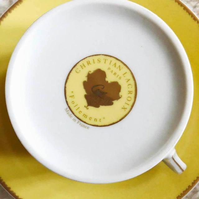"Christian LaCroix Paris ""Follement"" Coffee Tea Set, France - Set of 4 For Sale In Houston - Image 6 of 13"