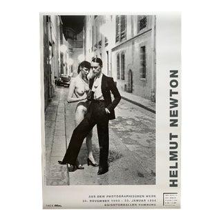 1994 Helmut Newton Original Exhibition Poster From European Vogue Showcase For Sale