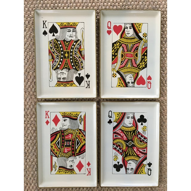 1960's Vintage Snack Trays in Playing Card Shapes - Set of 4 For Sale - Image 13 of 13