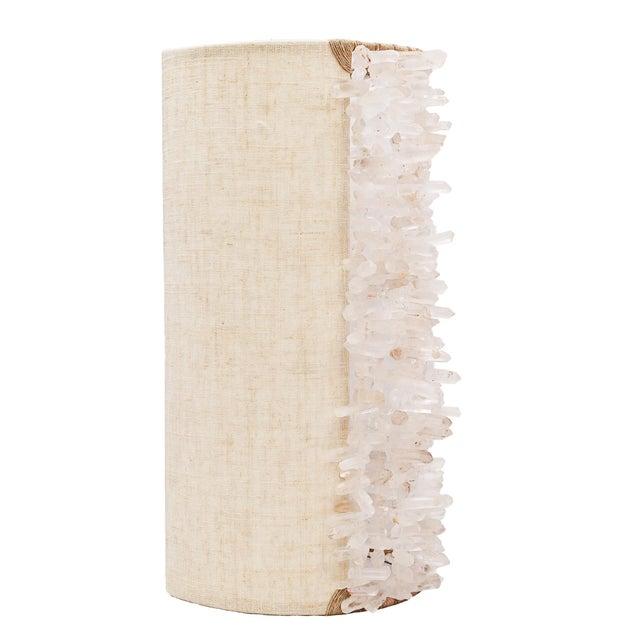 Boho Chic Rachel Wall Sconce - Chunky Quartz For Sale - Image 3 of 3