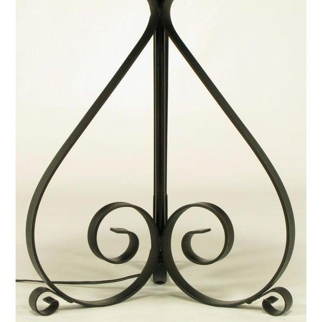 Black Dodecagon Marble & Iron Moorish Floor Lamp - Image 6 of 6