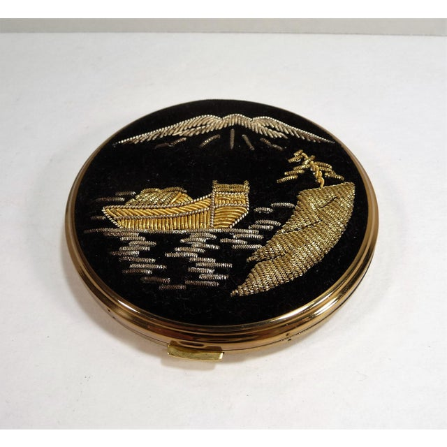 Mid-Century Asian Hollywood Glam Mirrored Compact - Image 3 of 7