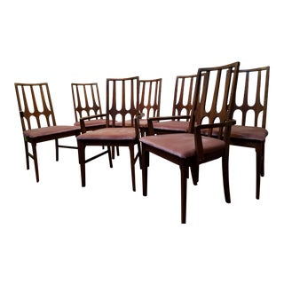 Broyhill Brasilia Mid Century Modern Dining Chairs - Set of 7 For Sale
