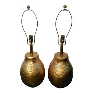 Visual Comfort Aerin Lauder Bleeker Table Lamps Gild / Gold Leaf Finish - a Pair For Sale