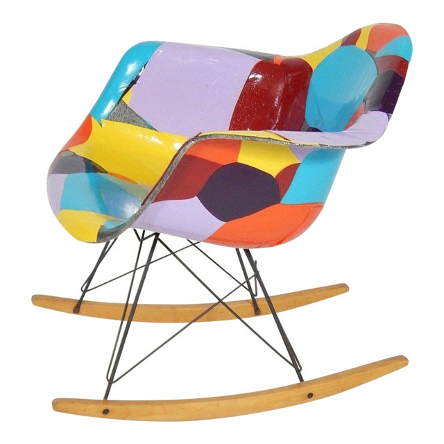 Early Eames 1950s Rocker Updated by Artist Jim Oliveira - Image 1 of 8