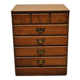 Image of Traditional Ethan Allen Maple and Laminate 3 Drawer Bachelor Chest Dresser For Sale