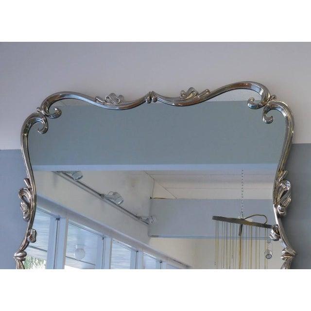 Mid-Century Modern Large Mid-Century Nickel Mirror For Sale - Image 3 of 5
