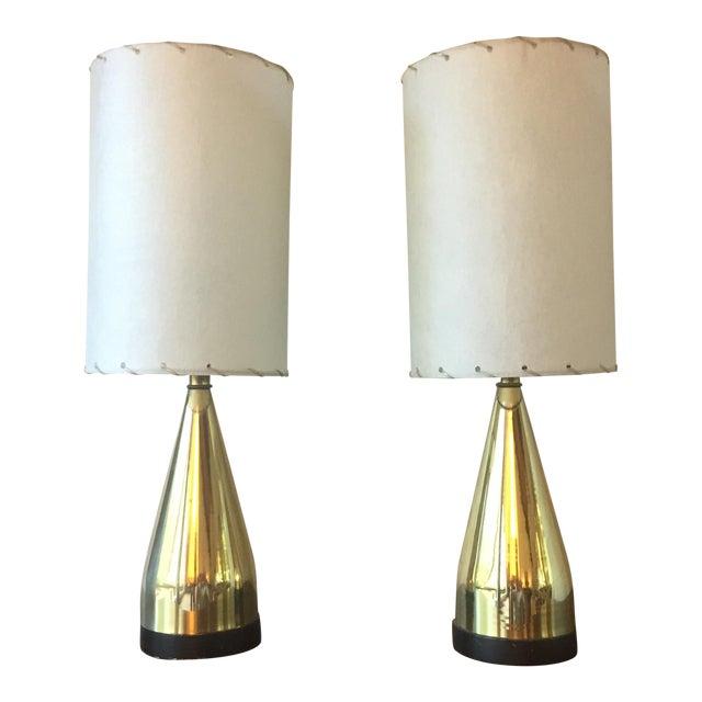 Mi-Century Brass Danish Lamps - A Pair - Image 1 of 8