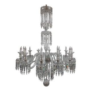 Crystal Spear Prism Twelve Arm Chandelier For Sale