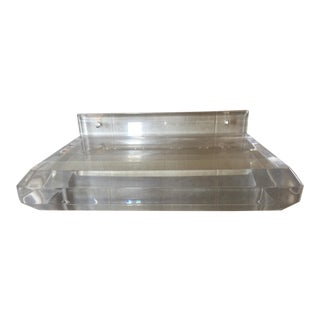 Mid Century Modern Lucite Floating Wall Shelf For Sale