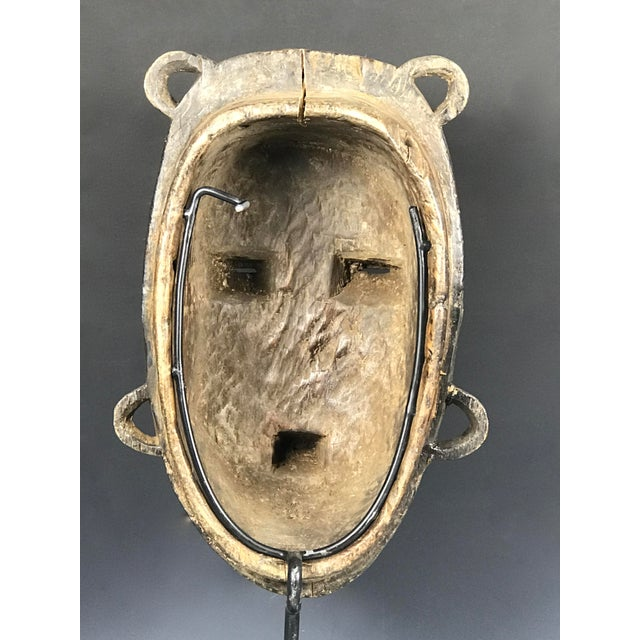 Metal African Tribal Art Kulango Mask From Ivory Coast For Sale - Image 7 of 11