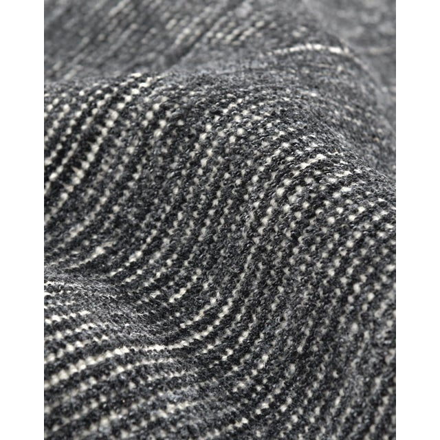 Halsey, Contemporary Solid Hand Loomed Area Rug, Charcoal, 5 X 8 For Sale In New York - Image 6 of 9