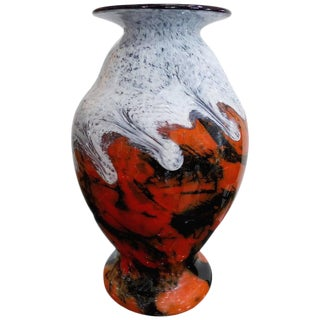 Large 20th Century French Blown Glass Vase