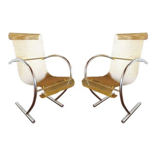 Sing Sing Sing Yellow Steel Chairs by Shiro Kuramata by Pastoe, Netherlands 1985 - a Pair For Sale