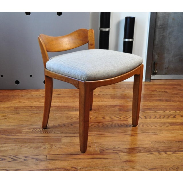 Priced for pair. A sturdy wide body stool probably designed and made by Frankel and Voellmy, Basel, Switzerland. Newly...